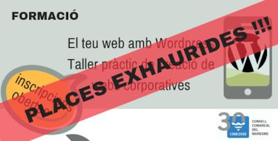 places exhaurides per al curs de wordpress